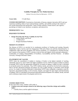 Sample Syllabus - Informatics at IUPUI
