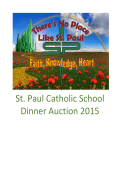 to view the 2015 Dinner Auction Catalog