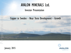 AVALON MINERALS Ltd.