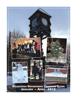 JANUARY – APRIL 2015 - Fairview Park Recreation Department