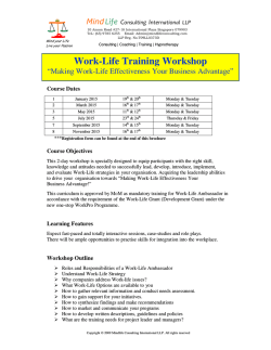 Work-Life Training Workshop