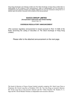 GUOCO GROUP LIMITED Please refer to the attached