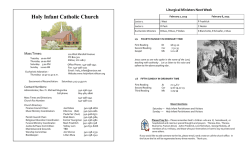 Previous bulletin - Holy Infant Catholic Church