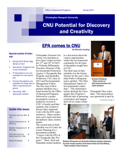 CNU Potential for Discovery and Creativity