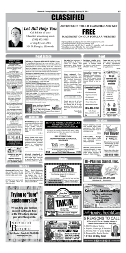 Classifieds - Independent