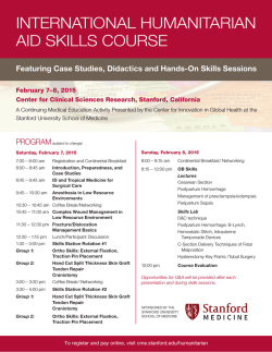 international humanitarian aid skills course - CME