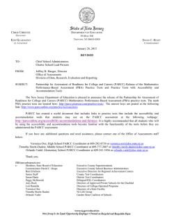 NJDOE Letter 6 - Bernards Township School District