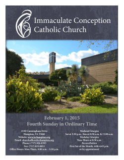 February 1. 2015 - Immaculate Conception Catholic Church