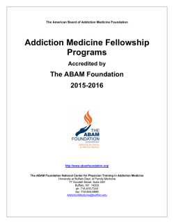 Addiction Medicine Fellowship Programs