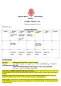 PACIFIC GROVE HIGH SCHOOL BULLETIN Monday, February 2