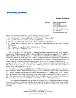 NOC-12.31.2014-Earnings Release EX-99