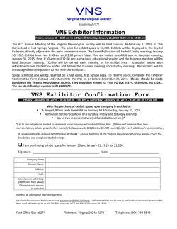 VNS Exhibitor PDF - Virginia Neurological Society