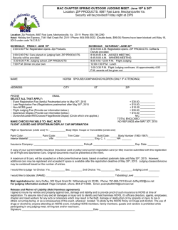 2015 Spring MAC Judging Meet Application Form