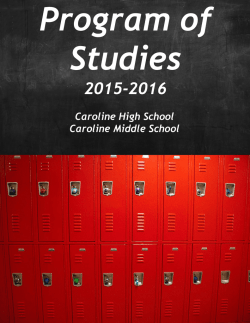 Program of Studies - Caroline High School