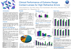 Clinical Performance of Extreme Range Contact Lenses for High
