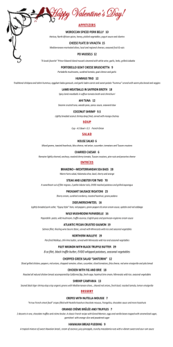 Menu - The Midi Restaurant