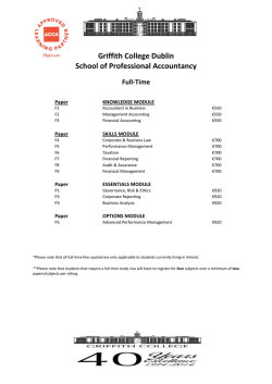 ACCA Fees - Full Time 2