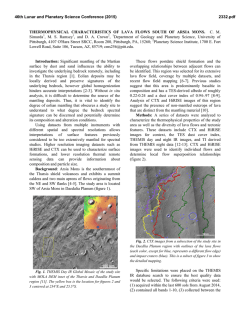 Thermophysical Characteristics of Lava Flows South of Arsia Mons