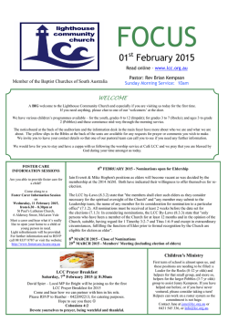 01 February 2015 - Lighthouse Community Church