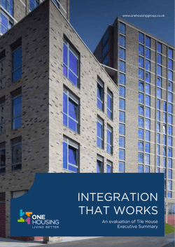 Integration That Works - Camden and Islington NHS Foundation Trust