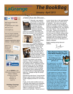 The BookBag Jan-Apr 2015 issue