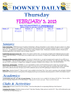 Daily Bulletin - Downey High School