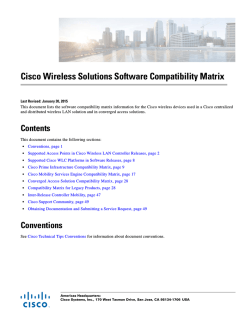 Cisco Wireless Solutions Software Compatibility Matrix