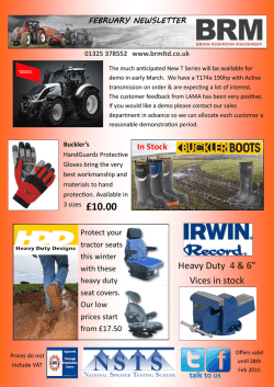 February Newsletter - Brian Robinson Machinery