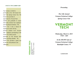 here - Vermont Technical College