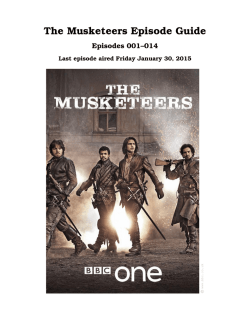 The Musketeers Episode Guide - INAF/IASF-Bo
