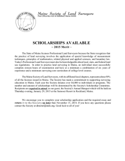 MSLS Scholarship Application and Information