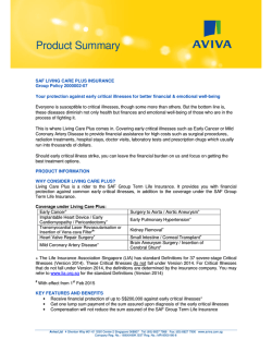 SAF Living Care Plus Product Summary
