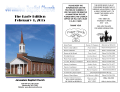 Early Edition for 2-1-15 - Jerusalem Baptist Church