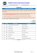 1st Merit List - COMSATS Institute of Information Technology Sahiwal