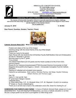 Newsletter 01-30-2015 - Immaculate Conception School