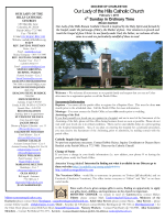 February 1, 2015 (PDF) - Our Lady of the Hills Catholic Church