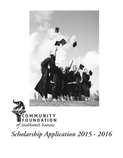 Scholarship Application 2015 - 2016