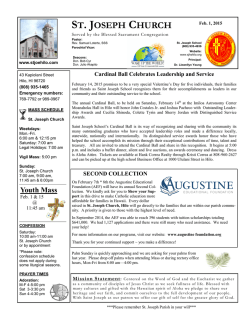 Bulletin - St. Joseph Catholic Church, Hilo