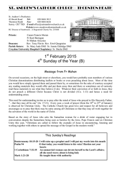 1st February, 2015 - St Andrews RC Church