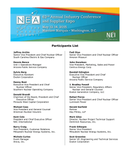 Participant List - Nuclear Energy Institute