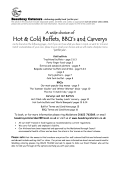 BBQ, Carvery and Hot Buffet Menu