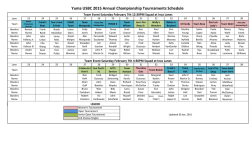 Lane Assignments for the 2015 City Championships