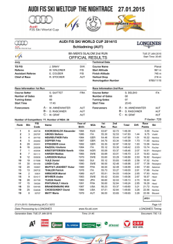 Official Results Run 2