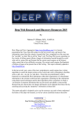 Deep Web Research and Discovery Resources 2014