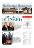 Newsletter February 2015 - Redeemer Lutheran Church