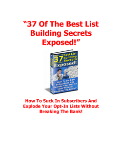 """37 Of The Best List Building Secrets Exposed!"""