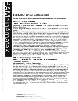 Feb Mar 2015 Overview - Brooklyn Academy of Music