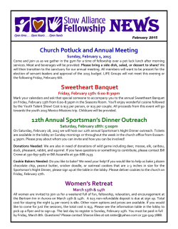 Newsletter - Stow Alliance Fellowship