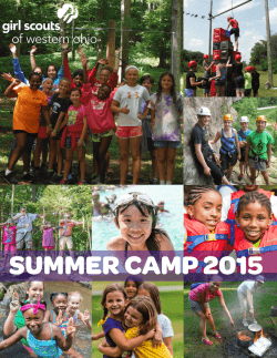View our 2015 Camp Brochure - Girl Scouts of Western Ohio