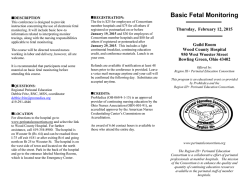 BASIC ELECTRONIC FETAL MONITORING (EFM)